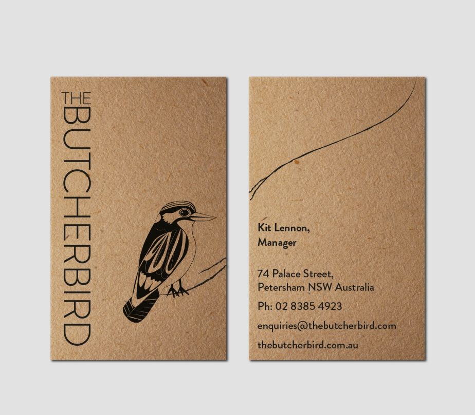 The Butcherbird Business Card